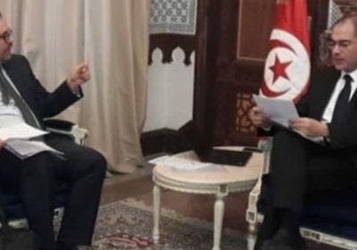 Mr Mohamed Salah Frad, Président de l'ATIC reçu par Mr Nizar Yaiche, Ministre des Finances.