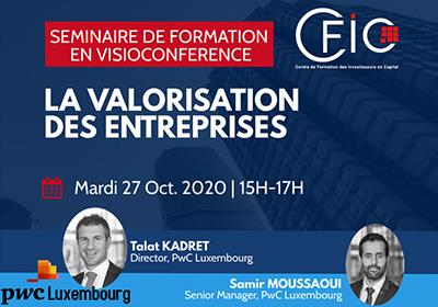 Séminaire de formation technique sur « La Valorisation des entreprises »